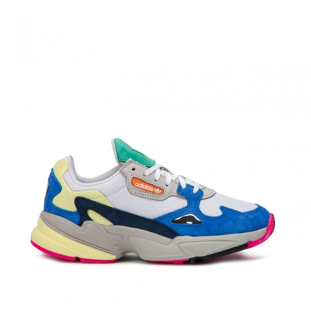 60ea808cff25 adidas Originals Falcon W Blue Yellow Pink BB9174