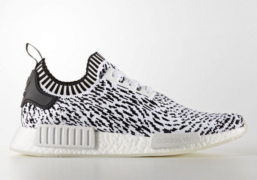 2212fcf7c More Views. Mens Adidas NMD R1 Primeknit Sashiko Zebra Core Black White  BZ0219