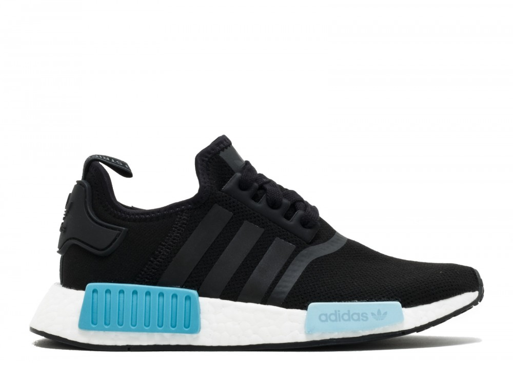 f7ce51c76f29f Adidas Originals NMD R1 Black White Icey Blue Womens BY9951 ...