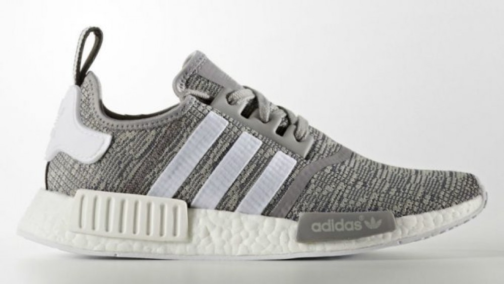 Adidas NMD R1 Glitch Mens Bb 2886 Gray White Mesh Boost Running