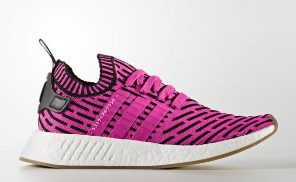 52d799e70 Adidas NMD R2 PK Mens Running Shoe Pink Black White BY9697 ...