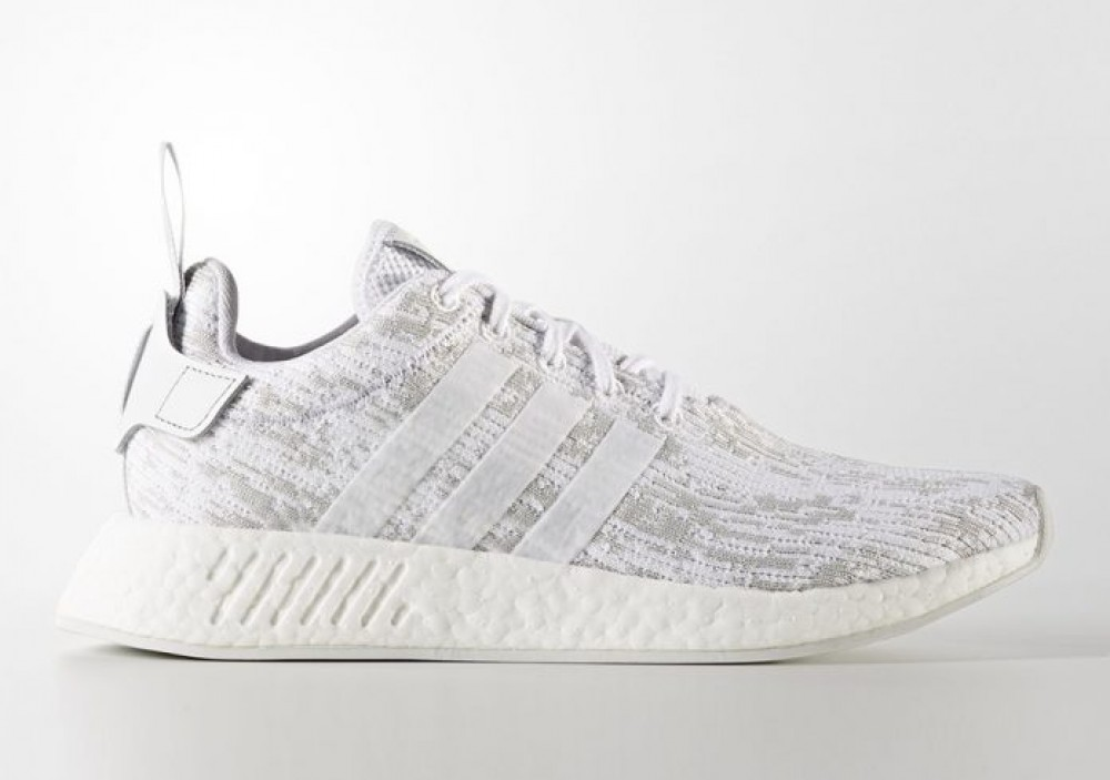 8aaedb64c Adidas Originals NMD R2 Boost White Womens Running Shoes SNEAKERS ...
