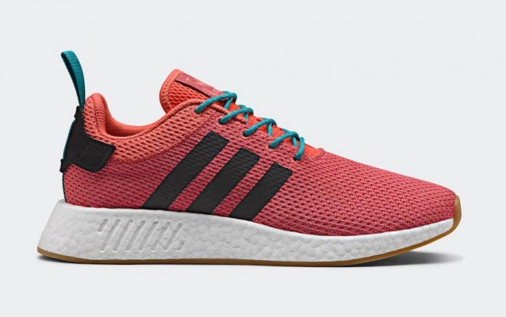 1fac3f253 Adidas NMD R2 Summer Mens Trace Orange Knit Boost Running Shoes ...