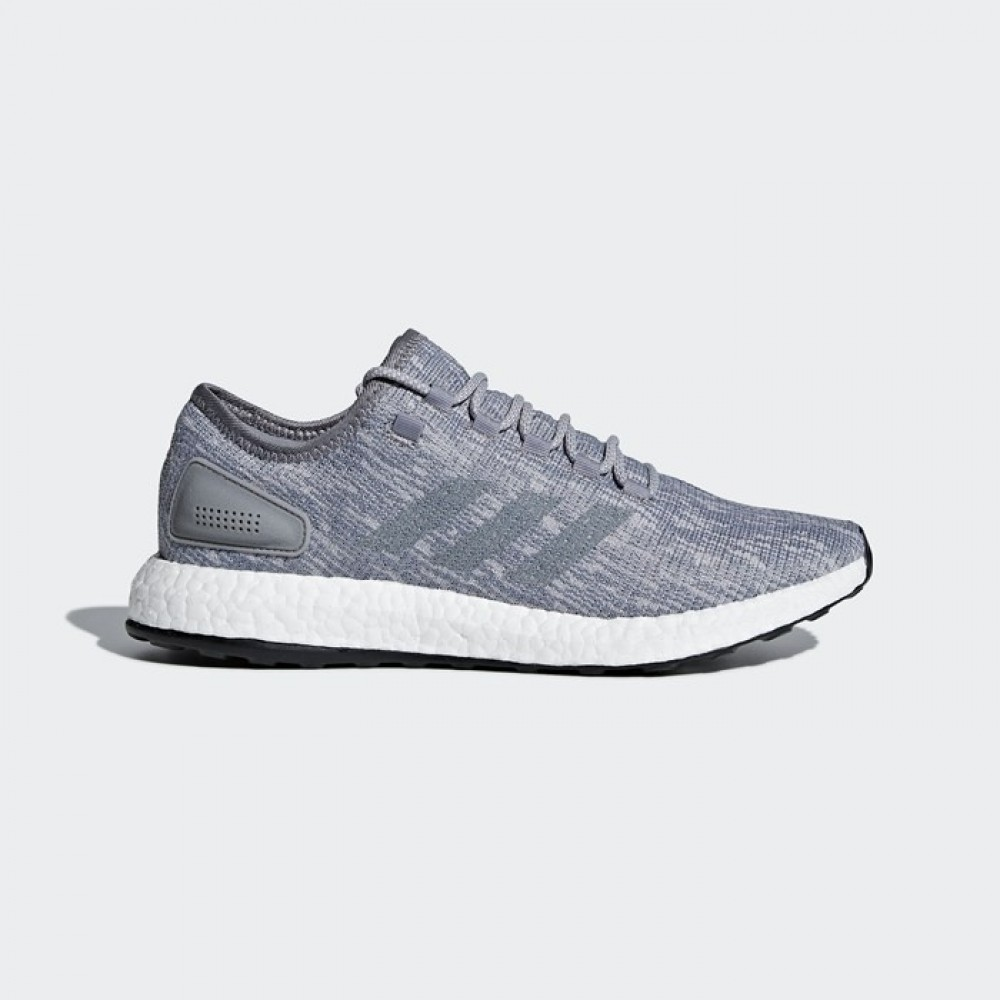 f5d845512 Adidas PureBOOST Grey White Mens Running Shoes Sneakers Trainers ...