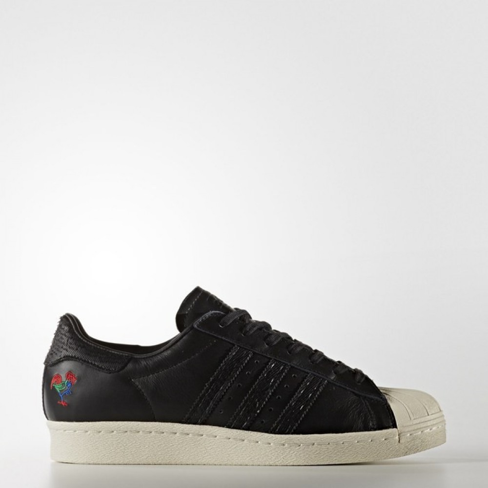 382ad5f7705e Adidas Originals Superstar 80s CNY Chinese Year Black Mens BA7778 ...