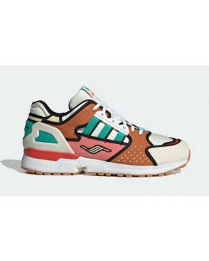 """The Simpsons x Adidas ZX 10000 """"Krusty Burger"""" Cream White/Supplier Color-Cloud White H05783"""
