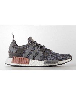 "Adidas Womens NMD R1 ""Grey & Raw Pink"" BY9647"