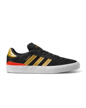 adidas Busenitz Vulc II Black/Gold Metallic/Solar Red EF8470
