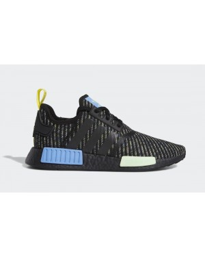 adidas NMD R1 Core Black/Real Blue-Yellow EG7945