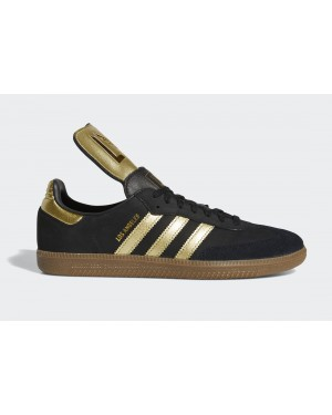 "adidas Samba ""LAFC"" Core Black/Gold Metallic-Gum FX9027"