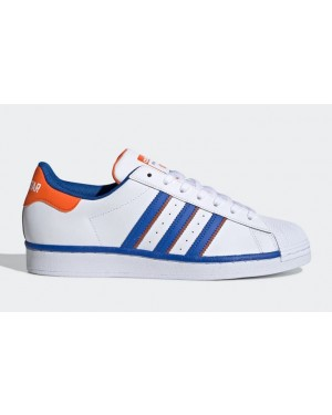 adidas Superstar Rivalry White Blue Orange FV2807