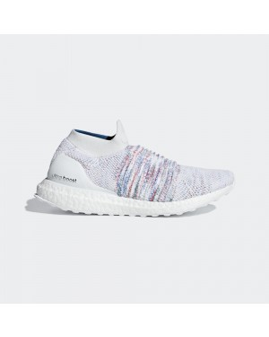 adidas UltraBOOST Laceless B75857 White Multi-Color Rainbow