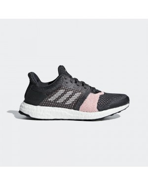 Adidas Women's Ultra Boost ST Carbon/Cloud White/Grey B75864