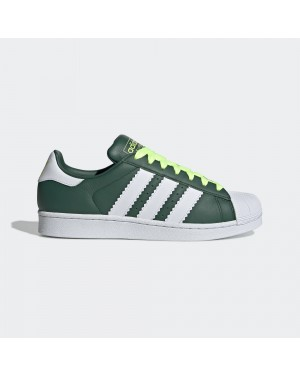 adidas Superstar Shoes Collegiate Green/White/Hi-res Yellow BD7419