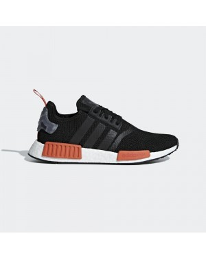 adidas Originals NMD_R1 Boost Black Raw Amber Men AQ0882