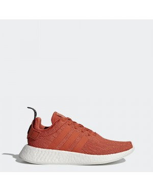 Mens adidas NMD R2 Future Harvest Burnt Orange White By9915