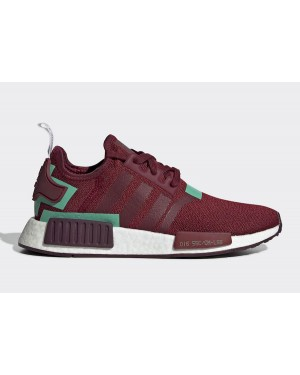 adidas NMD R1 BD8007 Collegiate Burgundy/Collegiate Burgundy-Hi-Res Green