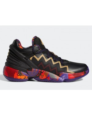 """Adidas Don Issue 2 """"Made in China"""" Black/Scarlet-Silver Metallic G55791"""