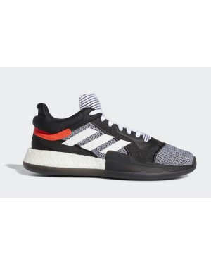adidas Marquee Boost Low Core Black/Cloud White-Solar Red D96931