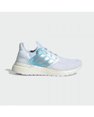 Adidas UltraBoost 20 FV8336 White/Silver Metallic/Sky Tint