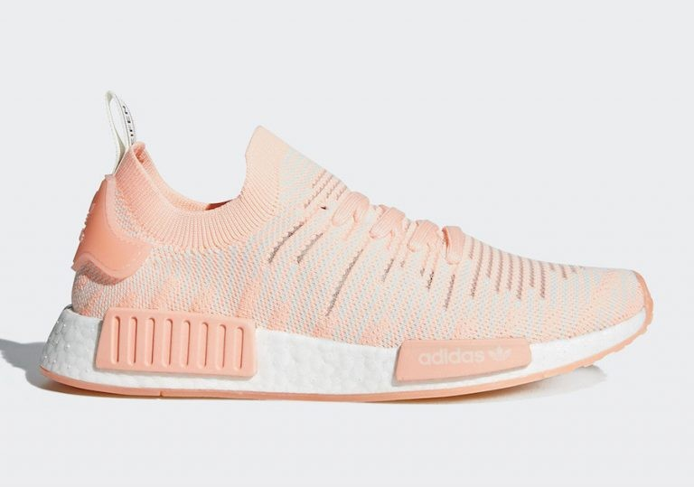 Adidas NMD R1 STLT Primeknit Shoes Orange AQ1119
