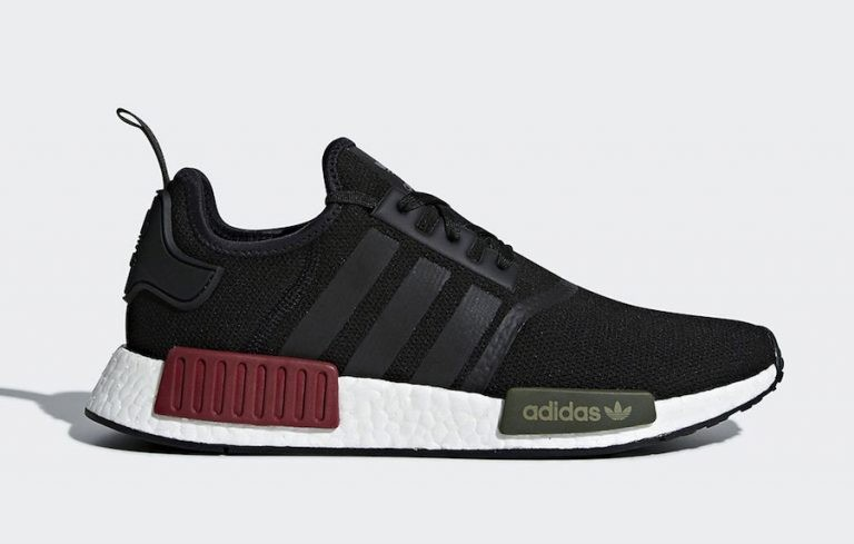 Adidas NMD R1 Core Black Collegiate Burgundy BB7791