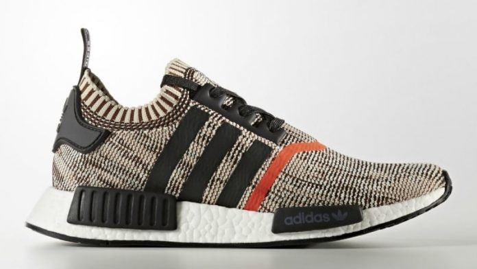 Adidas NMD R1 Primeknit Core Black Orange CQ1862