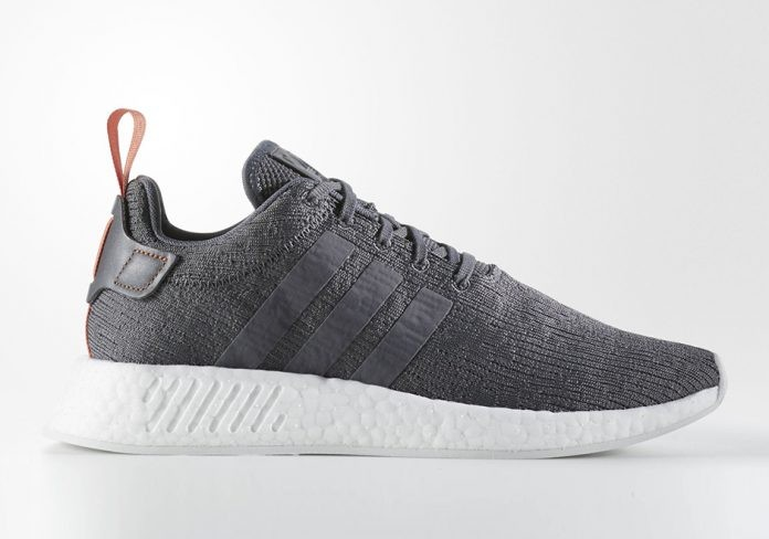 Adidas NMD R2 Mens Running Shoe Dark Grey/White BY3014