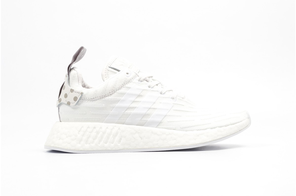 Adidas NMD R2 Primeknit White BY2245