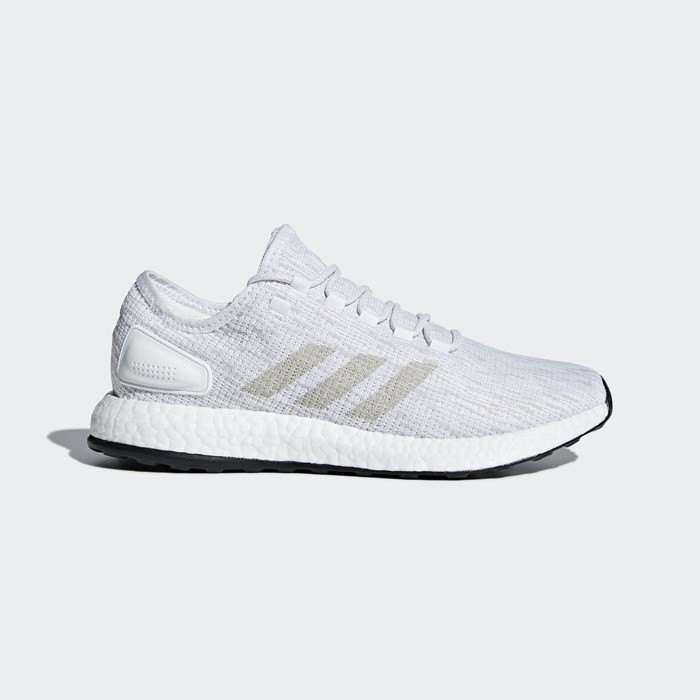 0c7beb029 Adidas PureBOOST Grey White Mens Running Shoes Sneakers Trainers ...