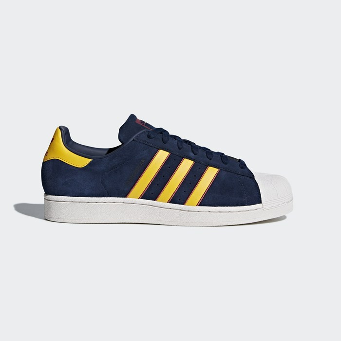 Adidas Superstar Shoes Men's Originals Blue CM8080