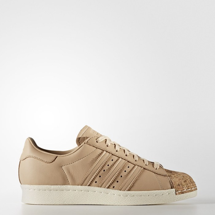 Adidas Superstar 80s Shoes Women's Originals Beige BA7604