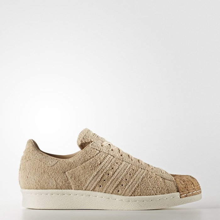 Adidas Superstar 80s Shoes Women's Originals Beige BY2962