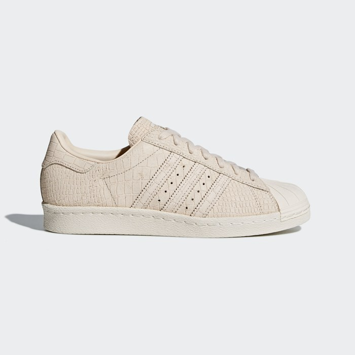 Adidas Superstar 80s Shoes Women's Originals Beige CQ2515