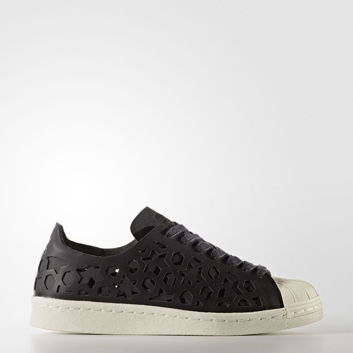 Adidas Superstar 80s Cut-Out Shoes Women's Originals Black BY2120