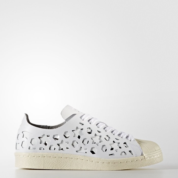 Adidas Superstar 80s Cut-Out Shoes Women's Originals White BB2129