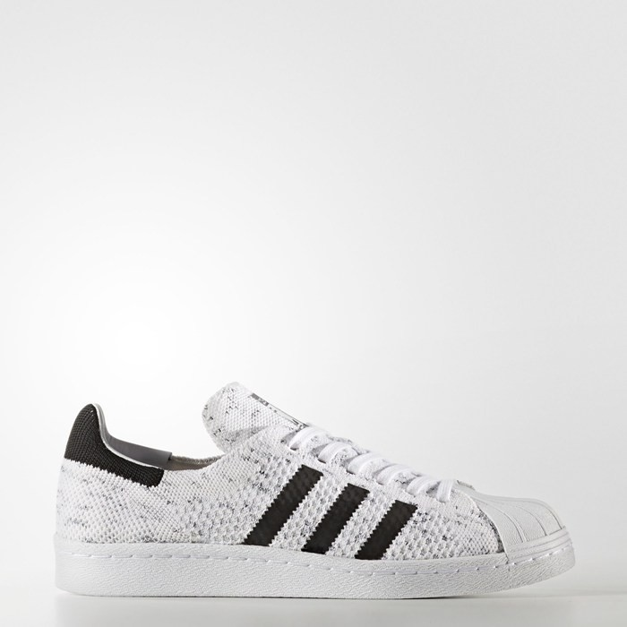 Adidas Superstar 80s Primeknit Shoes Women's Originals White BY2127