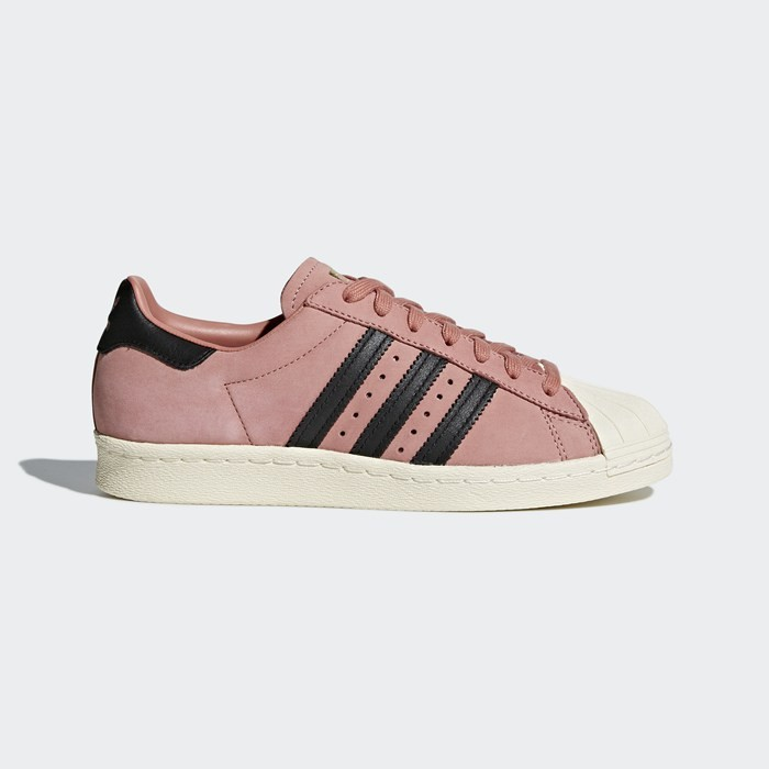Adidas Superstar 80s Shoes Women's Originals Pink CQ2513