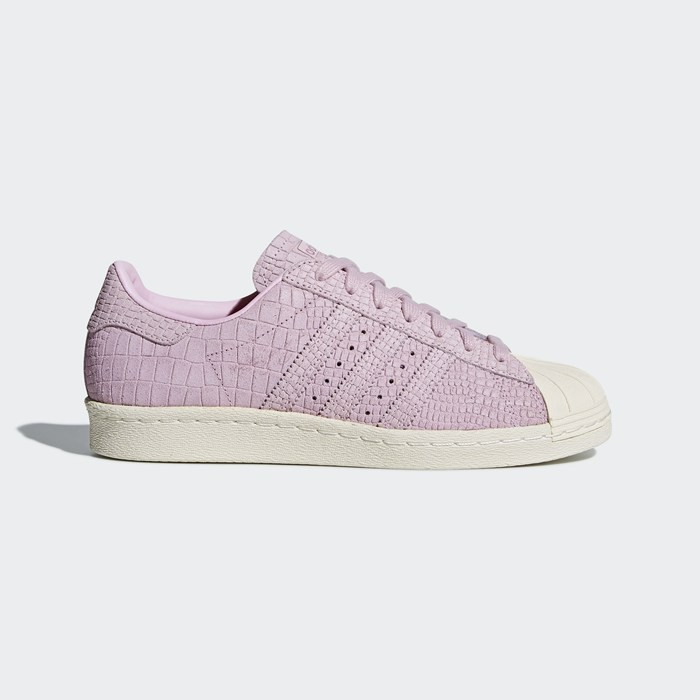Adidas Superstar 80s Shoes Women's Originals Pink CQ2516