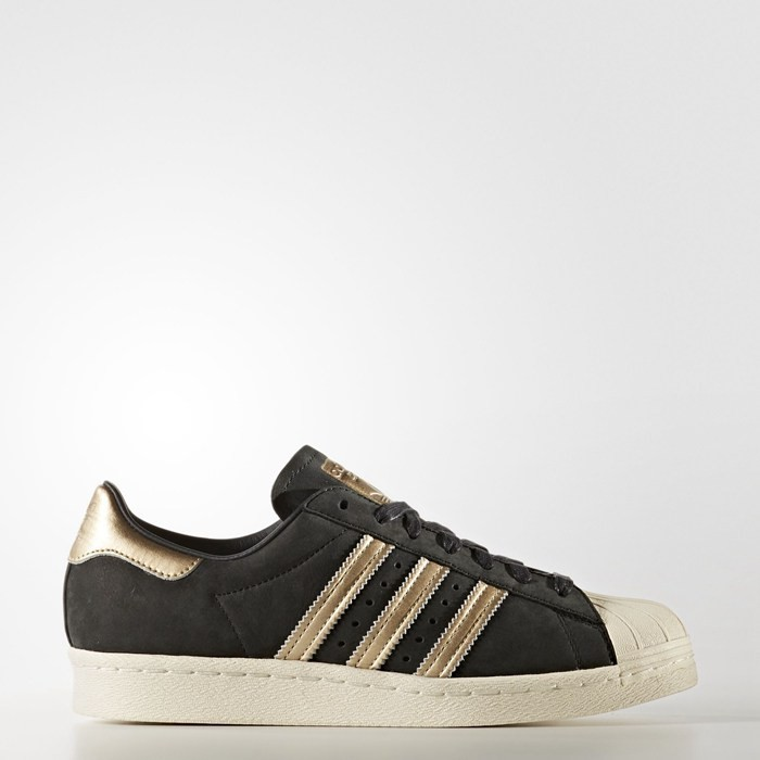 Adidas Superstar 80s Shoes Women's Originals Black BY9635