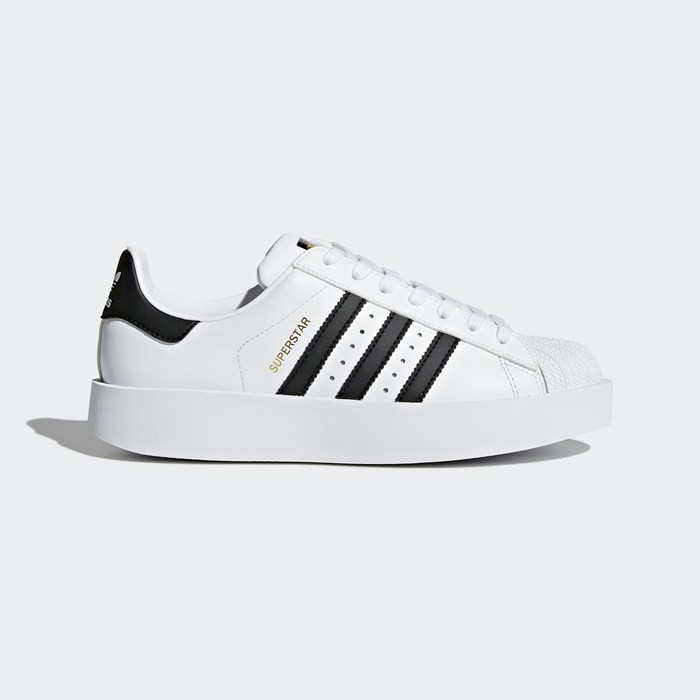 Adidas Superstar Bold Platform Shoes Women's Originals White BA7666