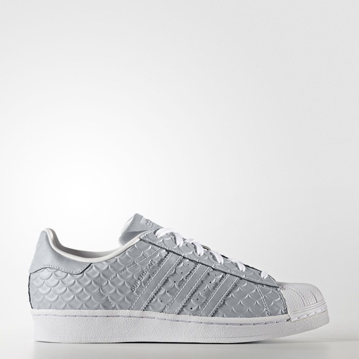 Adidas Superstar Shoes Women's Originals Silver BY3042