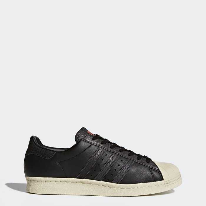 Adidas Superstar 80s Shoes Originals Black BZ0140