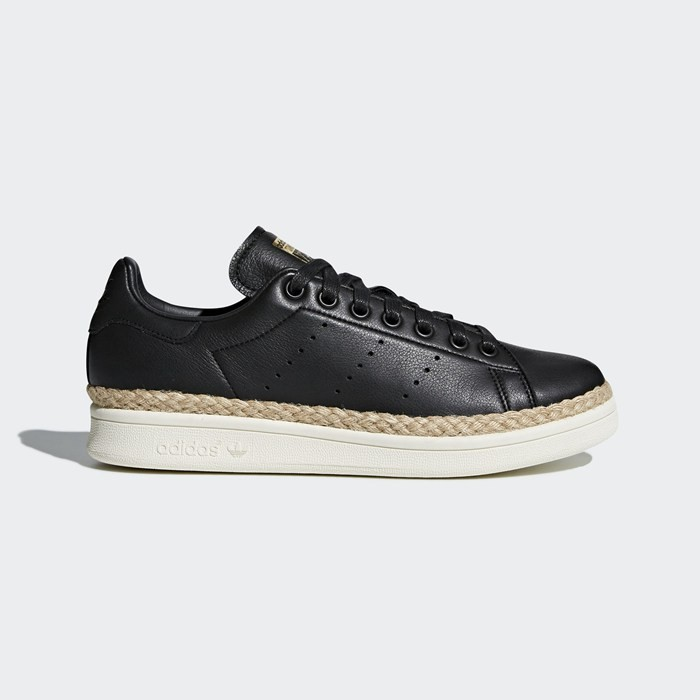 Adidas Stan Smith New Bold Shoes Women's Originals Black DA9536