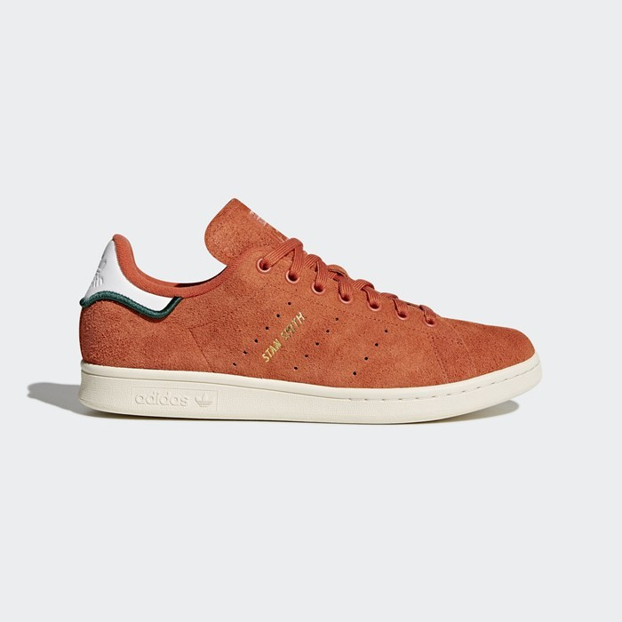 Adidas Stan Smith Shoes Men's Originals Orange CQ3091
