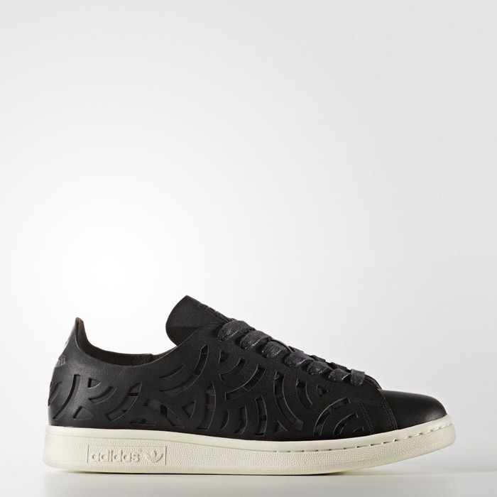 Adidas Stan Smith Cutout Shoes Women's Originals Black BY2976