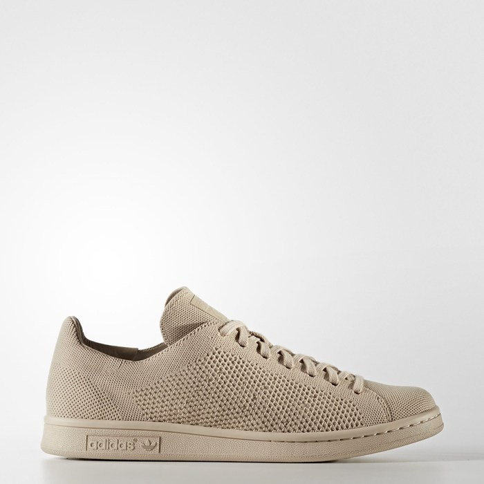 Adidas Stan Smith Primeknit Shoes Originals Beige BZ0121