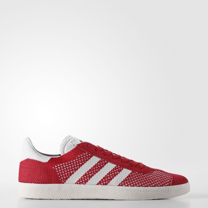 Adidas Gazelle Primeknit Shoes Originals Red BB5247
