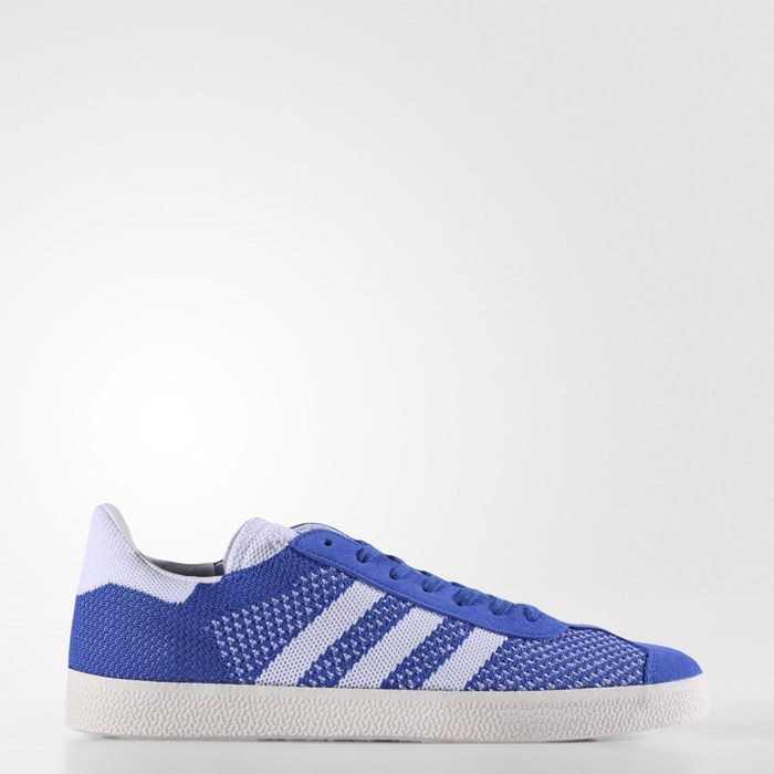 Adidas Gazelle Primeknit Shoes Originals Blue BB5246
