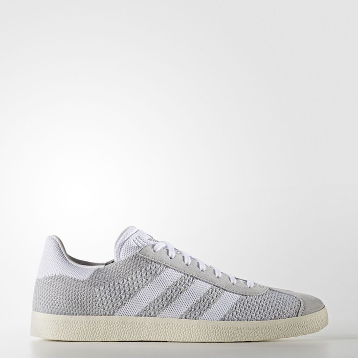 Adidas Gazelle Primeknit Shoes Originals Grey BB2751